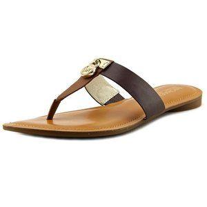 Michael Kors Hamilton Flat Open Toe Thong Sandals
